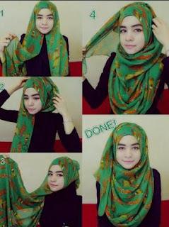 Inilah 7 Contoh Model Hijab Untuk Wajah Bulat