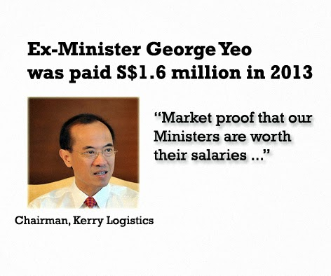 How much is George Yeo Paid
