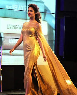 5 Esha Gupta in Golden Gown at Blenders Pride Event.jpg