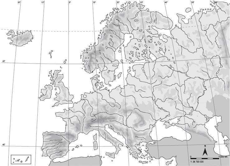 Mapa Mudo Europa Para Colorear