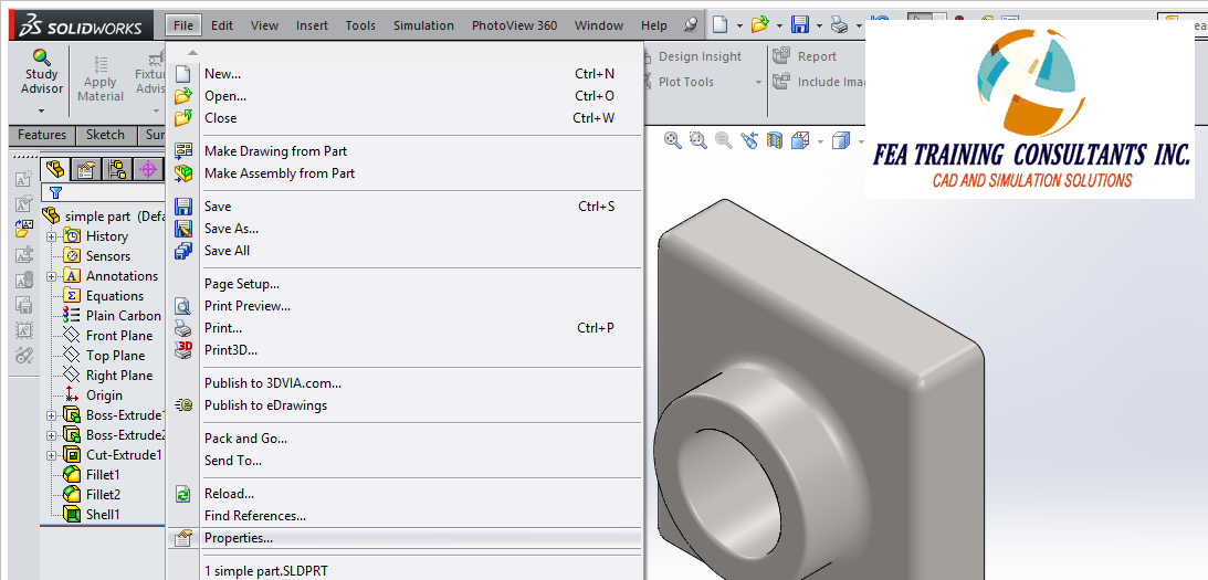 custom bill of materials in solidworks