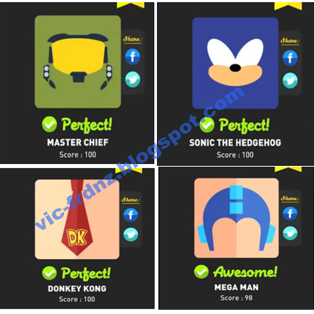 Icon Pop Quiz Game Characters answers