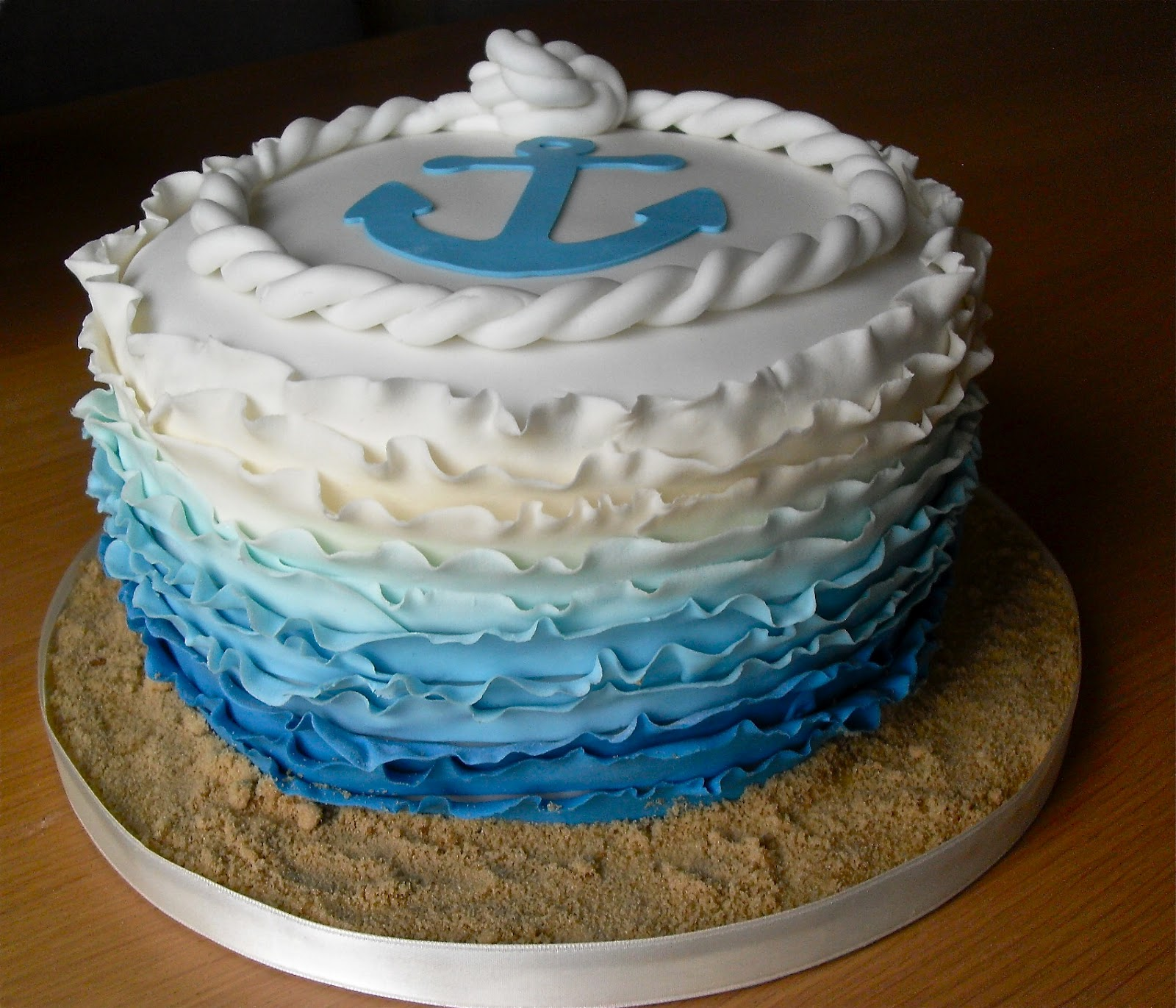 Anchor Birthday Cake