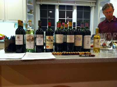 Ray Schaefer preparing for Bordeaux Wine Seminar