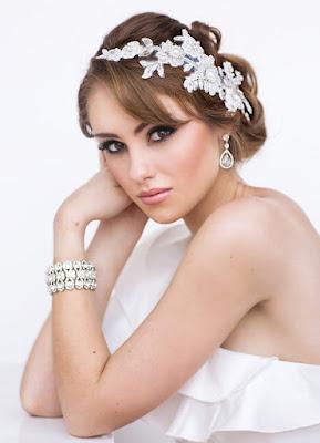 Avery Bridal Headpiece - www.perlejewellerymakeup.com.au