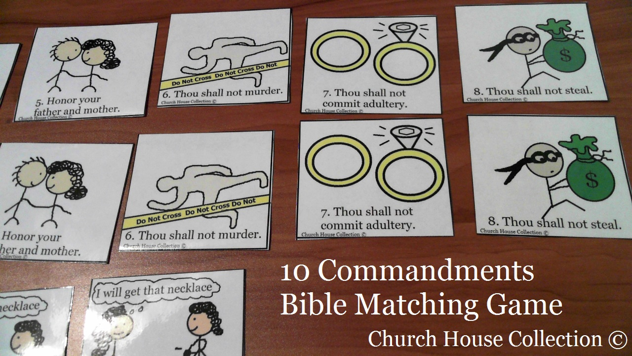 bible 10 commandments games printable