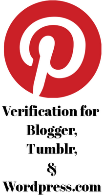 Pinterest verification for Blogger, Tumblr, and Wordpress.com