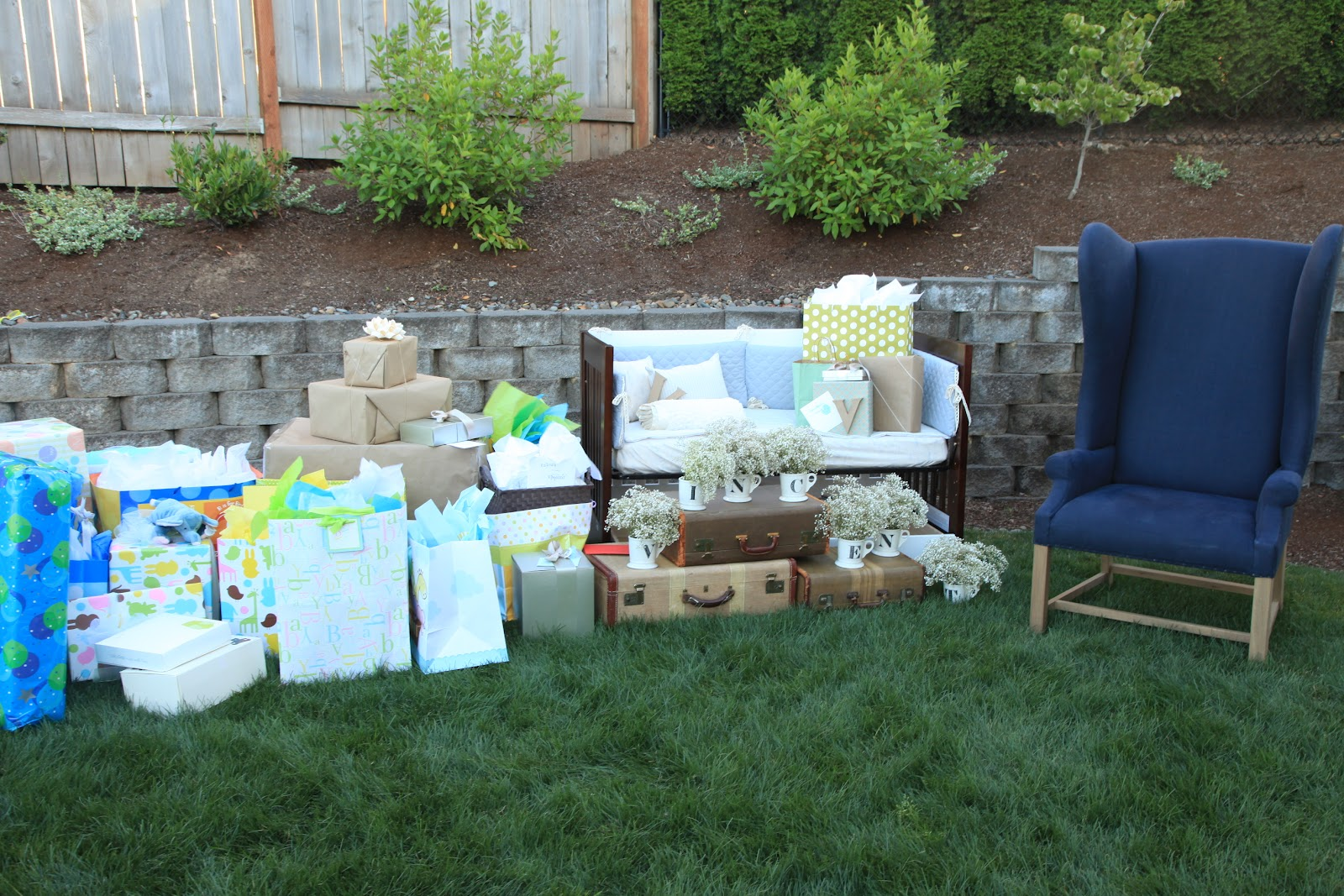 vintage pretty rustic outdoor baby shower, Baby shower