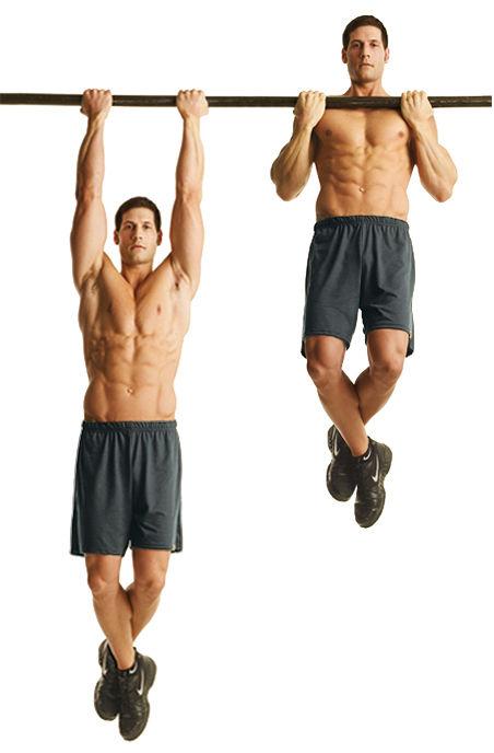 Chin Up - Salah satu cara memperbesar oto lengan