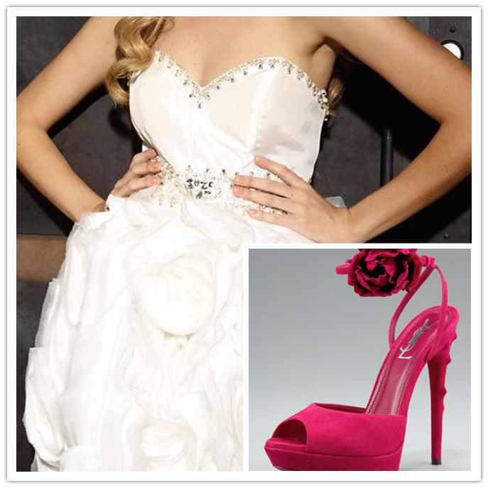 Short Ball Gown Rosette Dresses