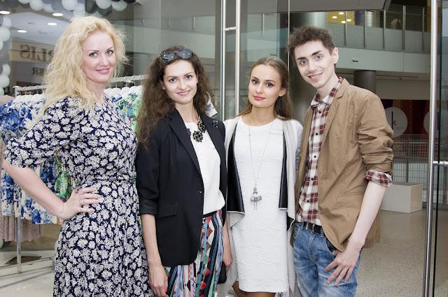 Лия Челидзе (владелица бутика), Анастасия Грибач, Нати Ко и Вадим Мерлис