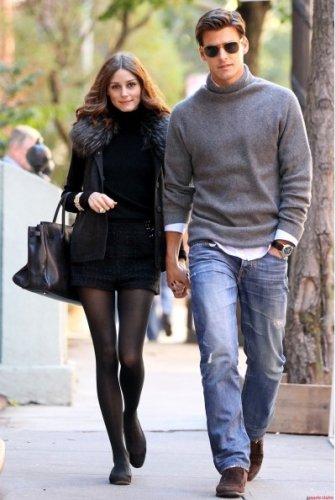 Johannes Huebl y Olivia Palermo estilo en la calle