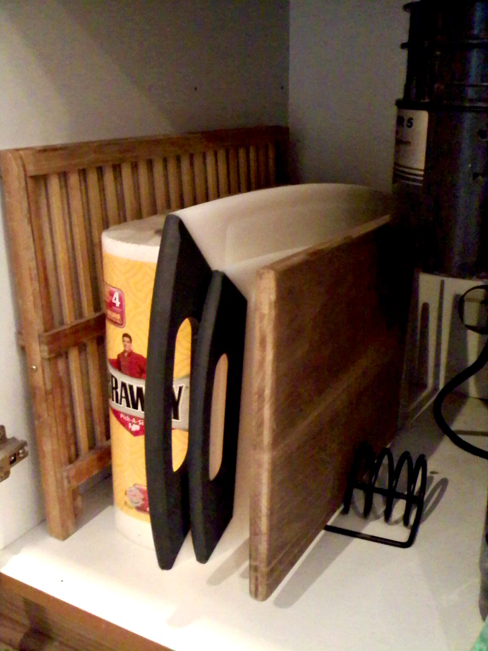 New uses for old things mail organizer as cutting board divider - New uses for old things ...