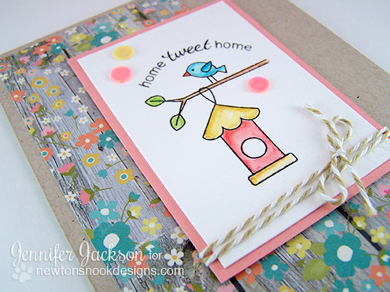 Birdhouse Card using Tweet Talk Stamp set by Newton's Nook Designs
