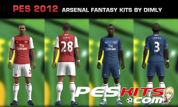 PES 2012 Arsenal Fantasy Kits by Dimly