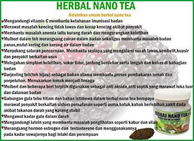 KELEBIHAN HERBAL NANO TEA