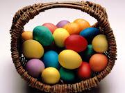 Huevos de Pascua. fondos huevos de pascua