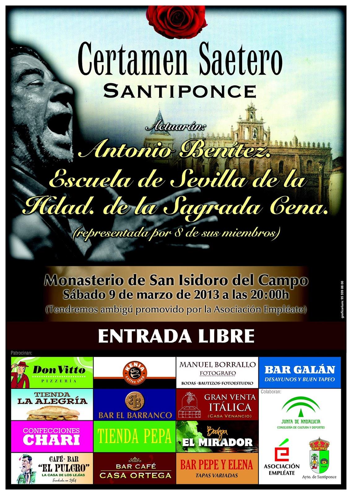Cartel anunciador del Certamen Saetero de Santiponce