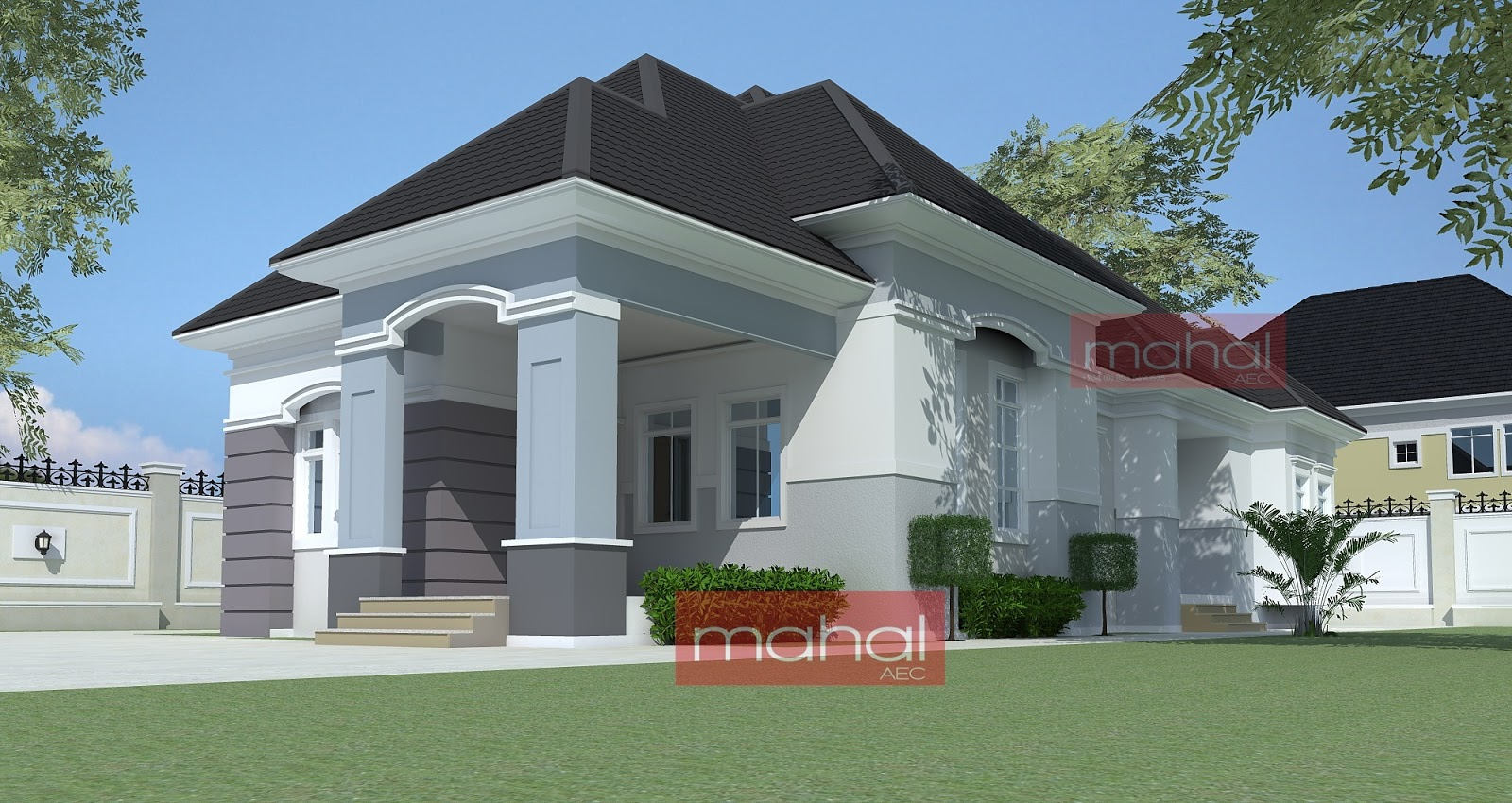 Contemporary nigerian residential architecture peter for Four bedroom bungalow