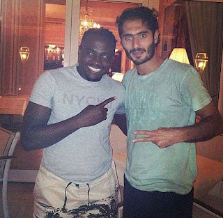 Simon Zanke with Hamit Altintop