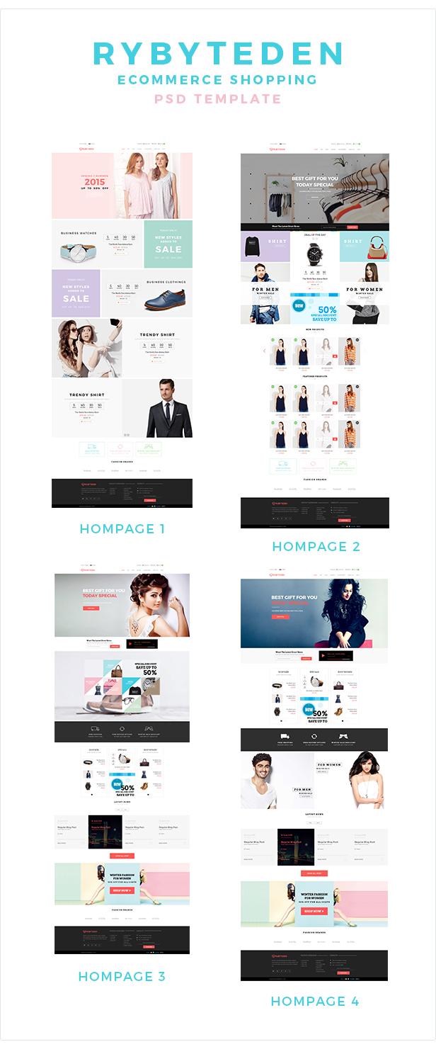 RubyTeden Shop - eCommerce Shopping PSD Template
