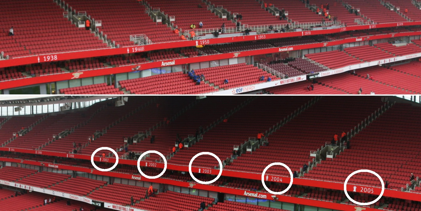 Nuevo estadio club atl tico de madrid ideas for Emirates stadium mural