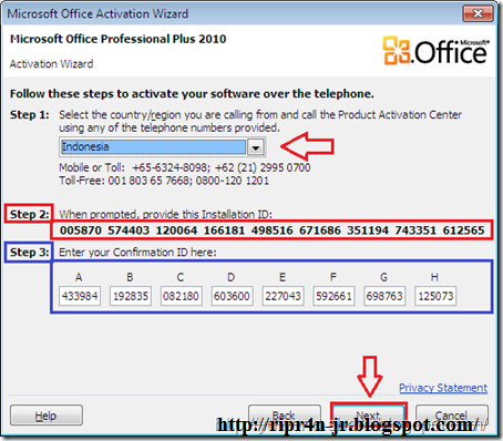 Cara aktivasi permanent microsoft office 2010 ripr4n jr - Activation office 2013 sans telephone ...