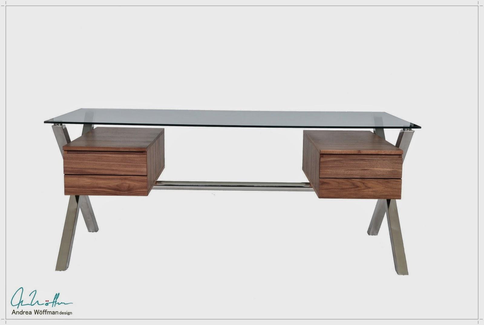 Amoblamientos y productos andrea w ffman escritorio - Modelos de escritorios de madera ...