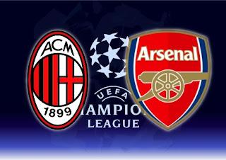 Partido AC Milan Vs Arsenal -Liga de Campeones