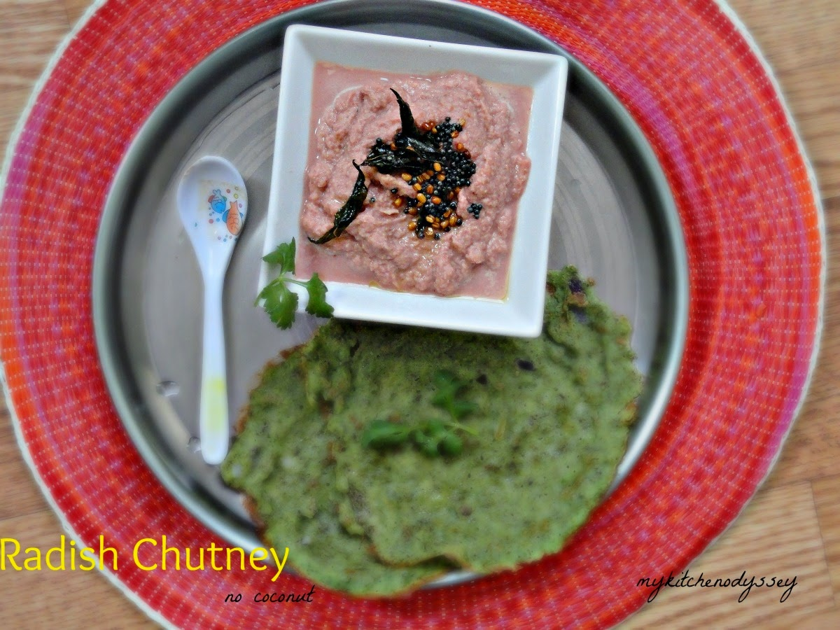Radish chutney(no onion,no garlic)