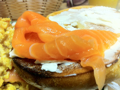 Nova Scotia Salmon with Cream Cheese on a Bagel