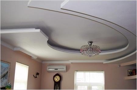 Потолки из гипсокартона для комнаты своими руками фото 99