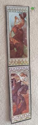zakładka jasna, księżyc i gwiazdy, Alfons Mucha, secesja