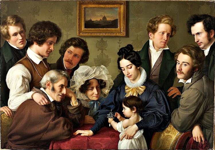 Wilhelm von Schadow - Die Familie Bendemann und ihre Freunde