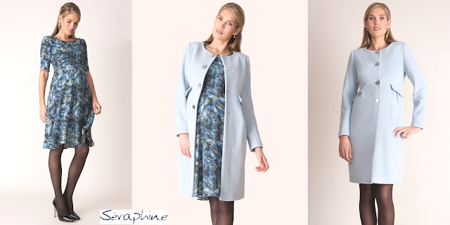 SERAPHINE Florrie Floral Printed Dress SERAPHINE Natasha Cashmere Blend Coat