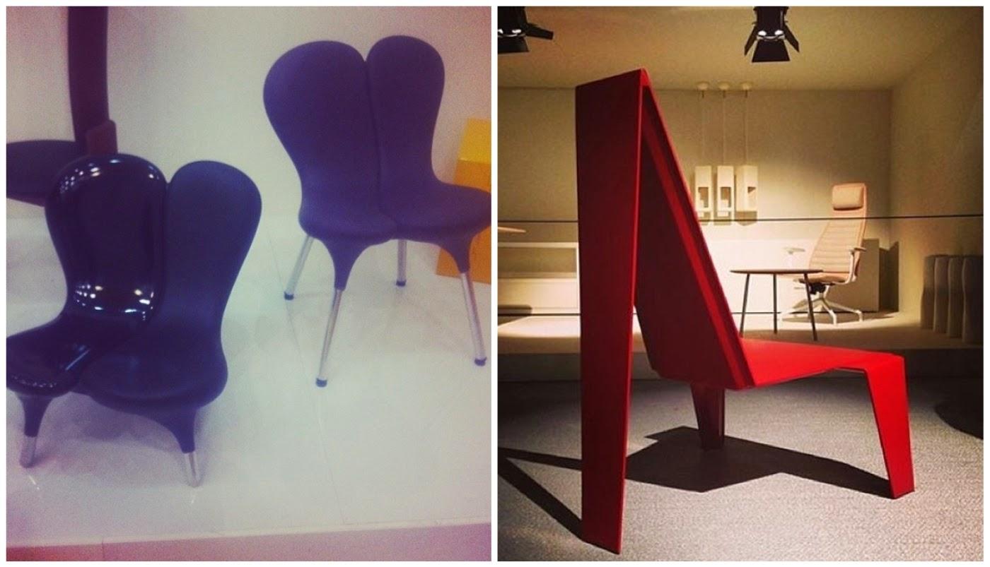 cadeira Karim Rashid @ casaejardim e cadeira Zanini de Zanine @mercadodaartedesign na Semana de Design de Milão