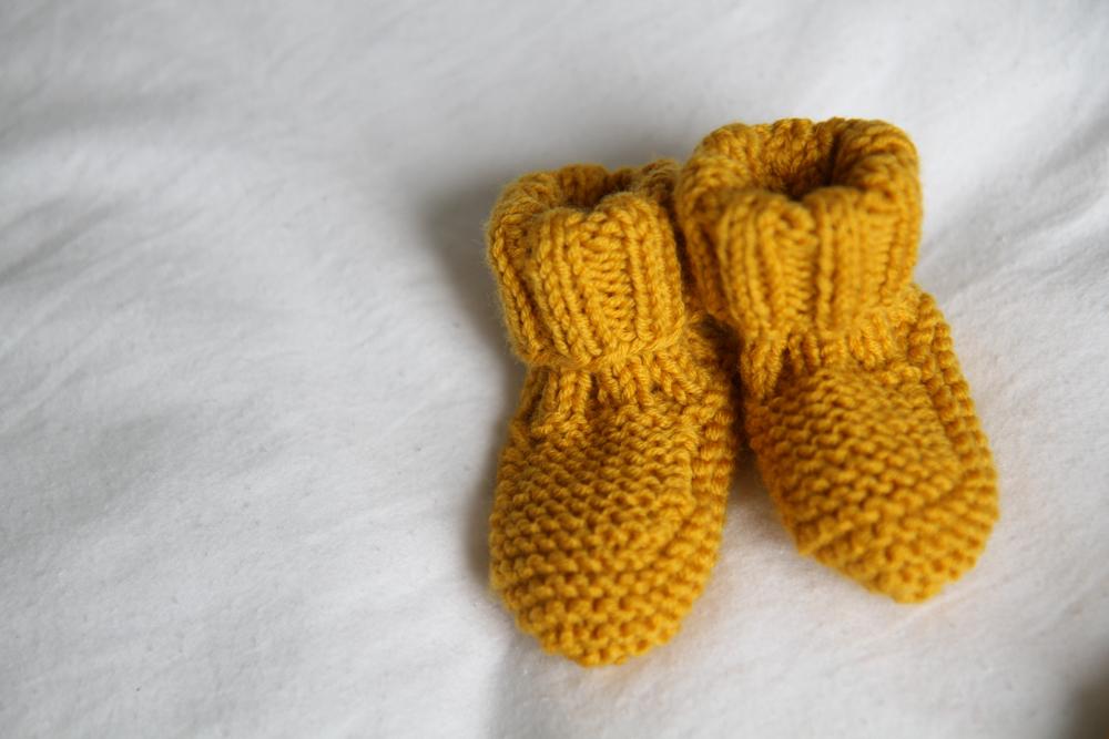 les tricots de granny chaussons naissance