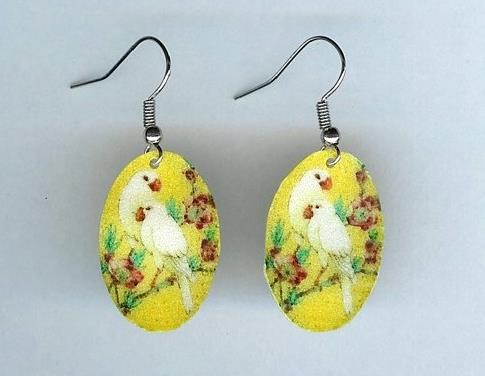 Yellow Birds Earrings