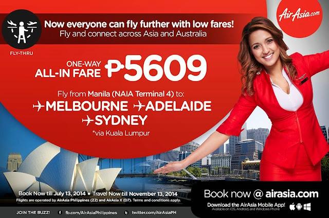 AirAsia Zest announces Fly-Thru service to Australia from Manila NAIA Terminal 4