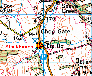 Map of the Chop Gate Village Hall CP area