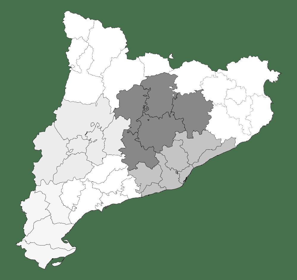 Mapa mudo de Catalu%C3%B1a para imprimir