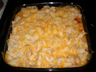 5 ingredient Chicken tortilla bake