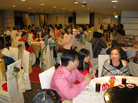 The wedding guests at Tang Court Restaurant