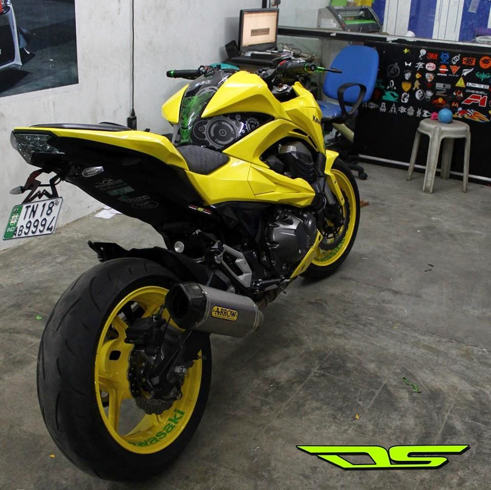 Bike stickering designs for pulsar 150 - Kawasaki Z800 Yellow Painting And Stickering