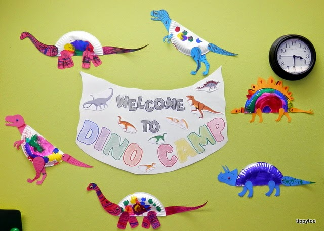& Tippytoe Crafts: Paper Plate Dinosaurs