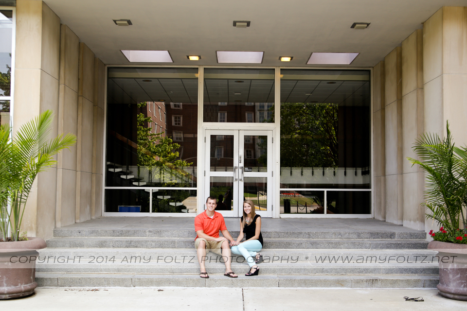 engagement photos at Purdue University
