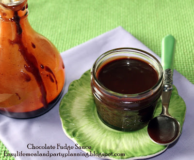 The Very Best Homemade Creamy Chocolate Fudge Sauce and French Vanilla Ice Cream by Easy Life Meal & Party Planning