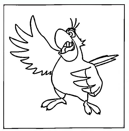 Iago aladdin coloring pages