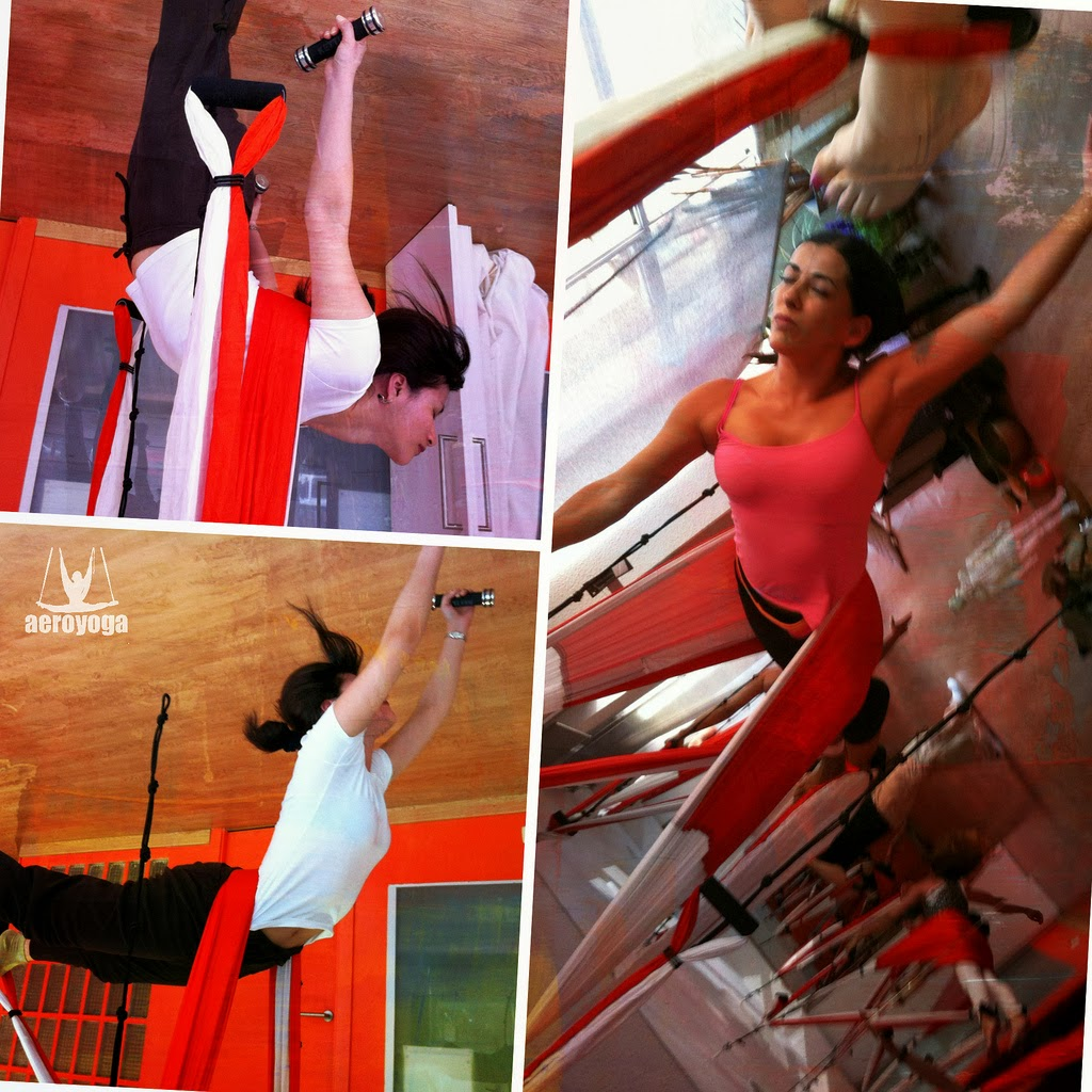 "Aerial Pilates© is an artistic postural correction method first developed in Europe by Rafael Martinez and his team from the AeroYoga® Institute ,as say the international trade press  ""The First school in Europe to train teachers in Aerial Yoga .""  The Benefits* of  Aerial Pilates© in the Swing are     ·Toned legs faster.   ·Flatter , slimmer waist belly and with less effort. ·Buttocks toned and shapely with a more playful and immersive practice. ·Right Column naturally in less time. ·Shoulders and neck well  located through the work suspended . ·Redefining the body more easily and firmly . ·Redefining the overall silhouette thanks to the lymphatic drainage (drainage into the swing of yoga , pilates swing) . ·Harmony, slenderness and length silhouette with less effort. ·General Growth"