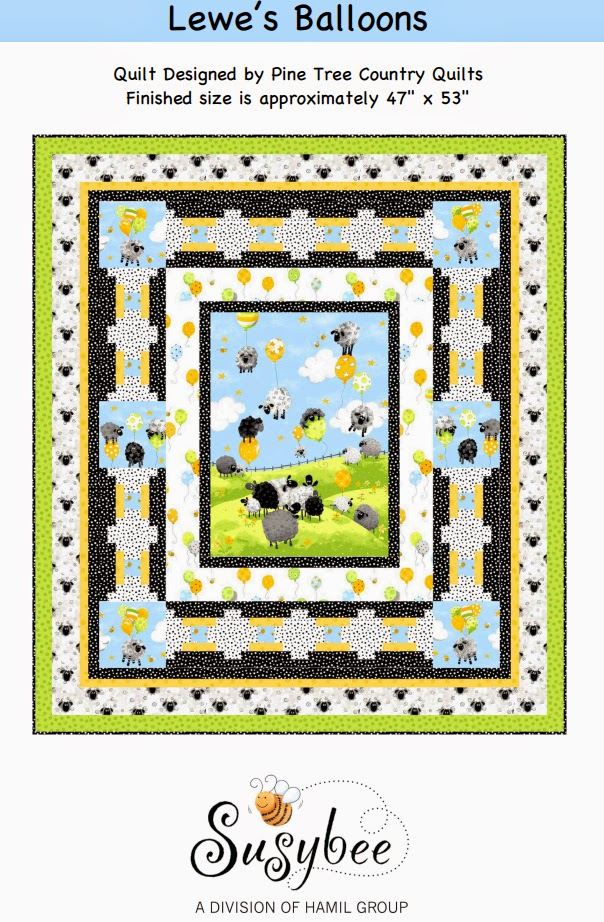 Lewe's Balloons Quilt Pattern (Susybee Textiles)